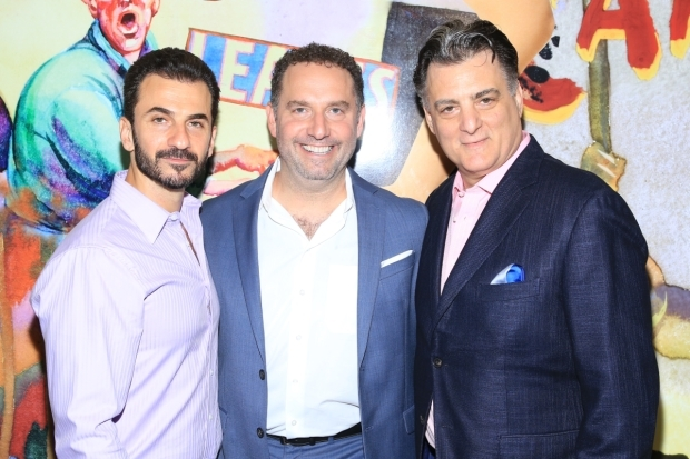 <p>Michael Aronov, Adam Dannheisser, and Joseph Siravo take on crucial roles in the new J.T. Rogers play.</p><br />(© Tricia Baron)
