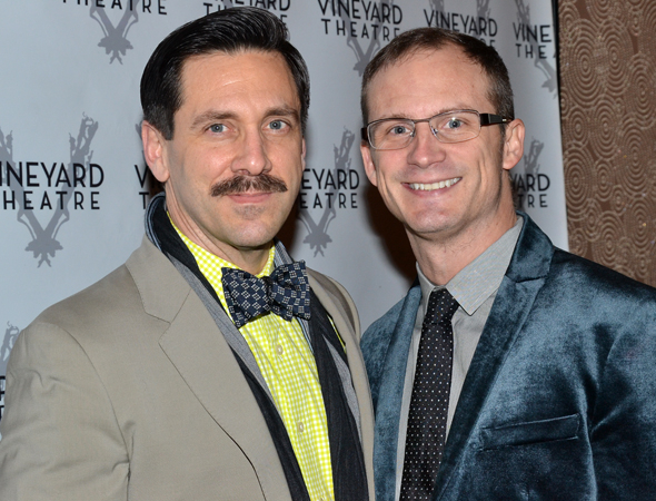 <p>Michael Berresse and Jeff Bowen collaborated on the Vineyard&#39&#x3B;s productions of <em>[title of show]</em> and <em>Now. Here. This.</em></p><br />(© David Gordon)