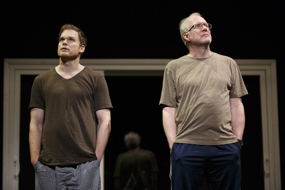 <p>Michael C. Hall and Tracy Letts are <em>The Realistic Joneses</em>&#39&#x3B; leading men.</p><br />(© Joan Marcus)