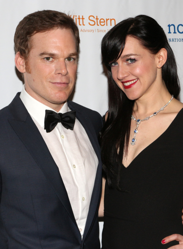 <p>Michael C. Hall, the evening&#39&#x3B;s honoree, was serenaded with Talking Heads&#39&#x3B; &quot&#x3B;Psycho Killer&quot&#x3B; by Lena Hall, his onstage husband in Broadway&#39&#x3B;s <em>Hedwig and the Angry Inch</em>.</p><br />(© David Gordon)