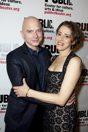 <p>Michael Cerveris and Judy Kuhn enjoy their opening night.</p><br />(© David Neff)