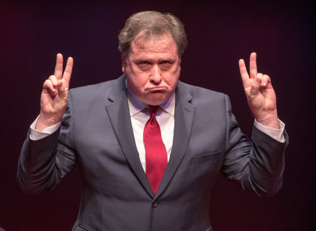 <p>Michael McCoy is &quot&#x3B;not a crook&quot&#x3B; as Richard Nixon in <em>Mark Felt, Superstar</em> at York Theatre company.</p><br />(© Ben Strothmann)
