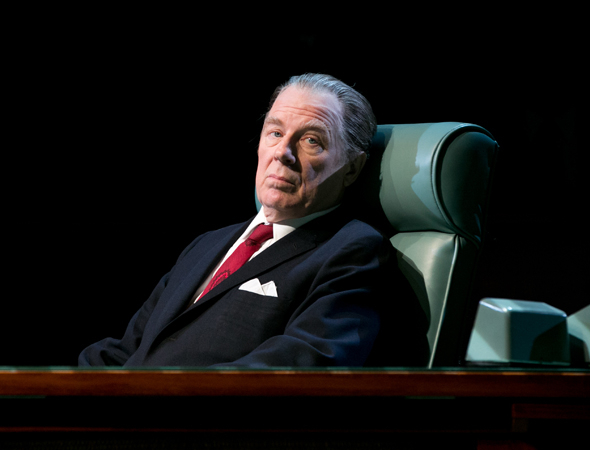 <p>Michael McKean appears as FBI head honcho J. Edgar Hoover.</p><br />(© Evgenia Eliseeva)