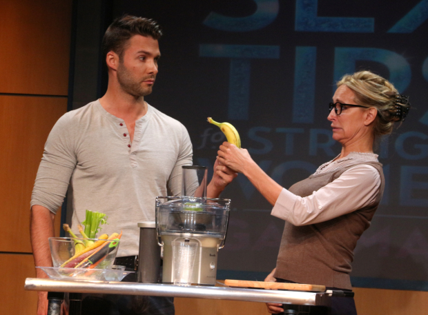 <p>Michael Milton and Sonja Morgan take the stage in <em>Sex Tips for Straight Women From a Gay Man</em>.</p><br />(© David Gordon)
