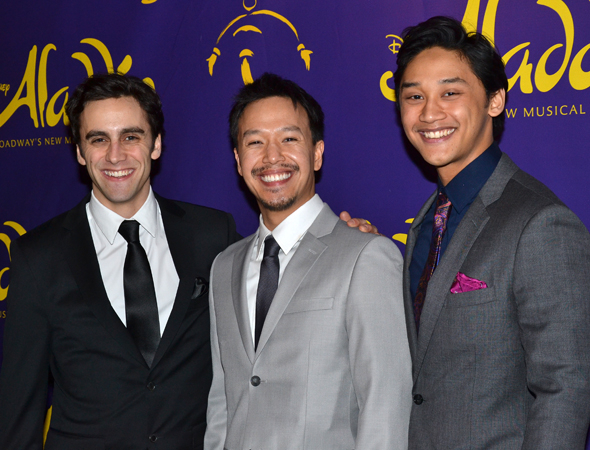 <p>Michael Mindlin, Adam Kaokept, and Joshua Dela Cruz are some of the guys in the cast.</p><br />(© David Gordon)