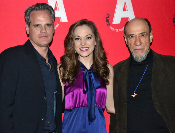 <p>Michael Park, Laura Osnes, and F. Murray Abraham lead the company as Macheath, Polly Peachum, and J.J. Peachum, respectively.</p><br />(© David Gordon)
