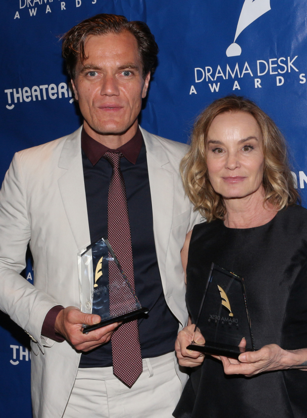 <p>Michael Shannon and Jessica Lange, winners for <em>Long Day&#39&#x3B;s Journey Into Night</em>.</p><br />(© David Gordon)
