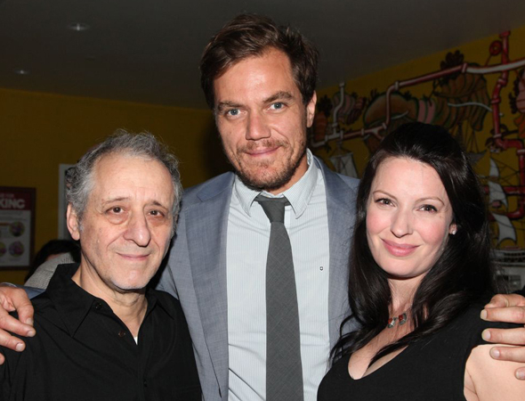 <p>Michael Shannon and Kate Arrington pose alongside cast member Joe Grifasi, who plays Peter Quince.</p><br />(© Gerry Goodstein)
