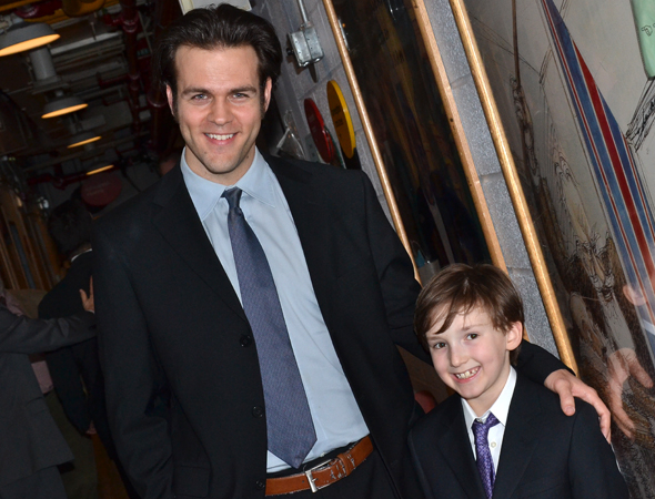 <p>Michael Simpson and Luke Niehaus play father and son, Colin and Ethan.</p><br />(© David Gordon)