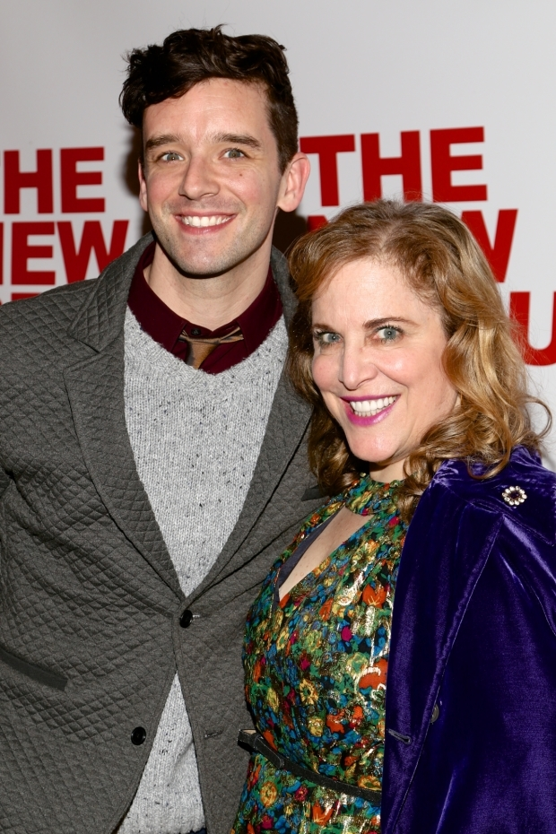 <p>Michael Urie and Claudia Shear enjoying the evening.</p><br />(© Tricia Baron)