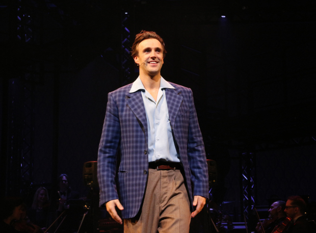 <p>Michael Xavier comes out for his curtain call.</p><br />(© David Gordon)