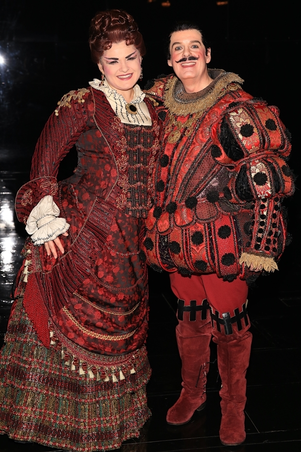 <p>Michele McConnell and John Easterlin star in the roles of Carlotta and Piangi.</p><br />(© Tricia Baron)