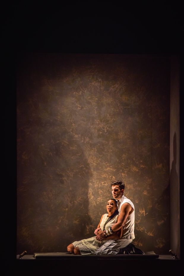 <p>Michelle Williams and Zak Resnick costar in the Muny production.</p><br />(courtesy of The Muny)