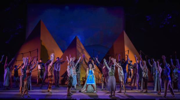 <p>Michelle Williams sings from center stage.</p><br />(courtesy of The Muny)