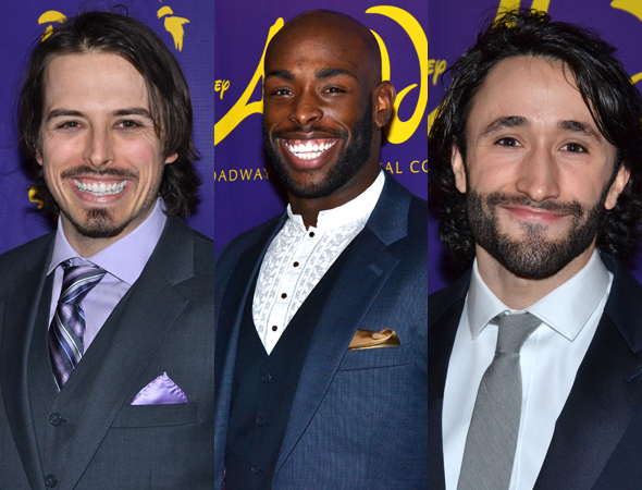 <p>Mike Cannon, Donald Jones Jr., and Brandt Martinez help bring <em>Aladdin</em> to life every night.</p><br />(© David Gordon)