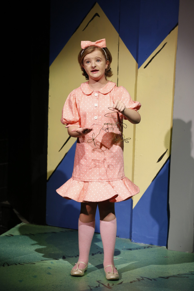 <p>Milly Shapiro takes on the role of Sally Brown.</p><br />(&copy&#x3B; Carol Rosegg)