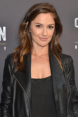 <p>Minka Kelly was on hand to cheer for her pal Leighton Meester.</p><br />(© David Gordon)
