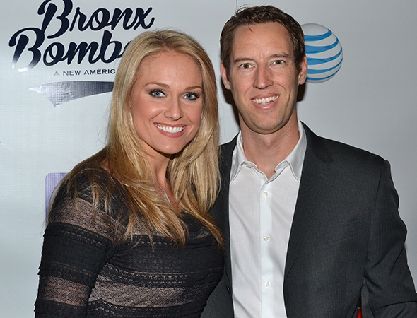 <p>MLB reporter Heidi Watney shares the opening night with a special date.</p><br />(© David Gordon)