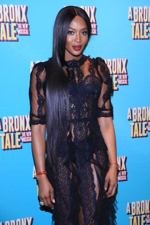<p>Model and actress Naomi Campbell attends the Broadway opening night.</p><br />(© Tricia Baron)
