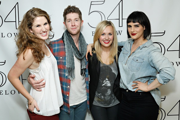 <p>Monet Julia Sabel, Eric Michael Krop, Julia Mattison, and Molly Hager are happy to be a part of the evening.</p><br />(© Cindy Ord/Getty Images)