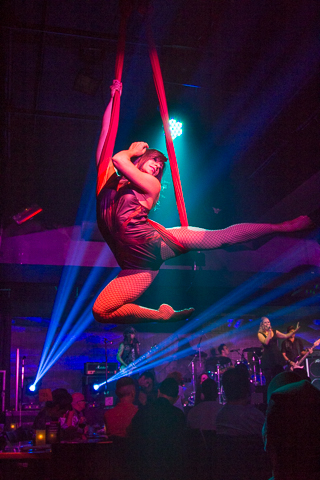 <p>More than your average theatrical experience. Rock-N-Roll Debauchery even had dancers swinging from the ceiling.</p><br />(© Seth Walters)