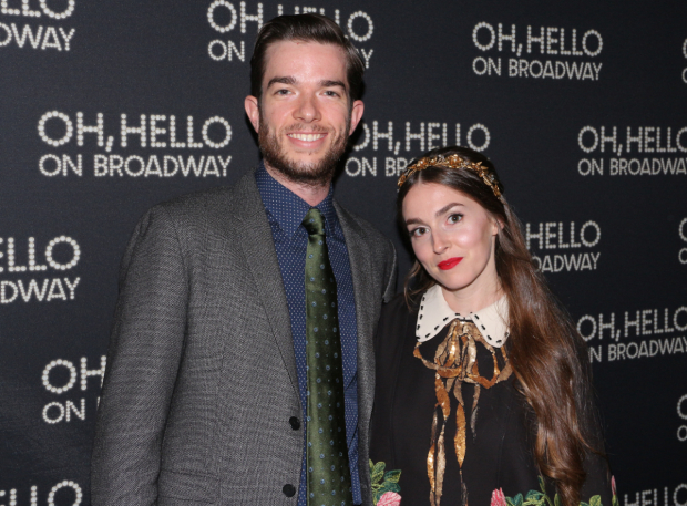 <p>Mulaney poses for a snapshot with his wife, Annamarie.</p><br />(© David Gordon)