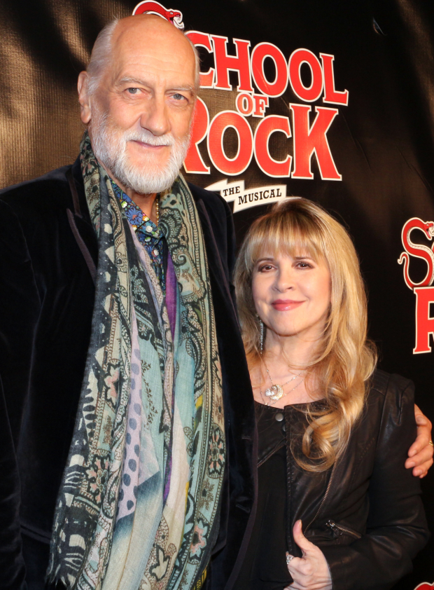 <p>Music legends Mick Fleetwood and Stevie Nicks of Fleetwood Mac get ready to see a show that features one of Nicks&#39&#x3B; iconic tunes.</p><br />(© David Gordon)