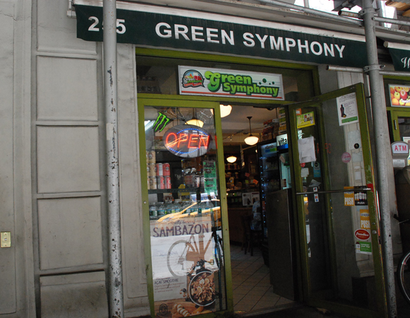 <p>My favorite place to grab a healthy snack before hopping in the van to Paper Mill. If you ever stop at Green Symphony, say hi to Jay for me!</p>