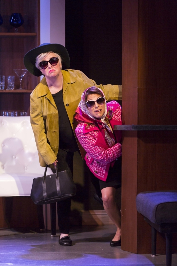 <p>Nancy Opel and Andrea Bianchi go incognito. </p><br />(© Matthew Murphy)