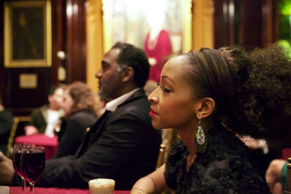<p>N&#39&#x3B;Kenge and Norm Lewis watch the concert intently.</p><br />(© Christian Campbell)