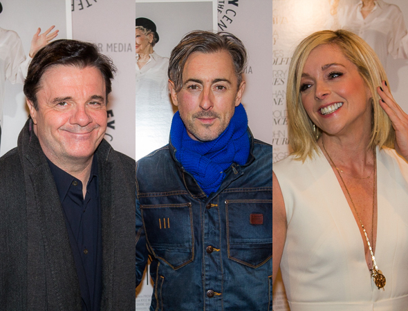 <p>Nathan Lane, Alan Cumming, and Jane Krakowski.</p><br />(© Seth Walters)