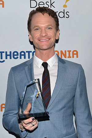 <p>Neil Patrick Harris — Outstanding Actor in a Musical winner for <em>Hedwig and the Angry Inch</em>.</p><br />(© David Gordon)