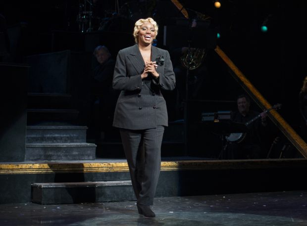 <p>NeNe Leakes takes her first bow as Matron &quot&#x3B;Mama&quot&#x3B; Morton in <em>Chicago</em>.</p><br />(© Allison Stock)