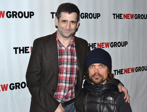 <p>New Group favorites Jonathan Marc Sherman and Emmy winner Peter Dinklage were each other&#39&#x3B;s dates for the opening.</p><br />(© David Gordon)