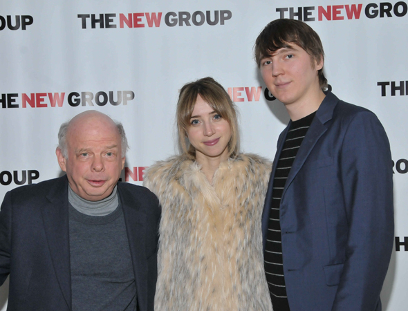 <p>New Group favorites Wallace Shawn, Zoe Kazan, and Paul Dano pose for photos.</p><br />(© Anita & Steve Shevett)