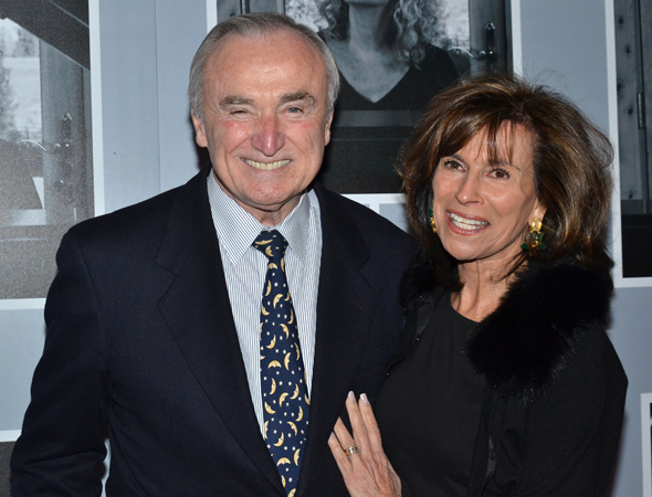 <p>New York City Police Commissioner Bill Bratton and his wife, Rikki Klieman, are excited for a night at the theater.</p><br />(© David Gordon)
