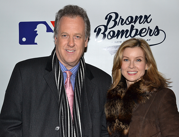 <p>New York Yankees broadcaster Michael Kay, seen here with his wife, newscaster Jodi Applegate, wouldn&#39&#x3B;t miss anything baseball-related.</p><br />(© David Gordon)