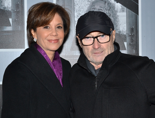 <p>News anchor Dana Tyler and her boyfriend, Grammy-winning singer-songwriter Phil Collins, spend date night at <em>Beautiful</em>.</p><br />(© David Gordon)