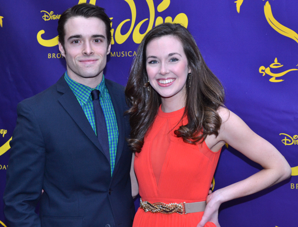 <p><em>Newsies</em> stars Corey Cott and Liana Hunt spend their off night at <em>Aladdin</em>.</p><br />(© David Gordon)