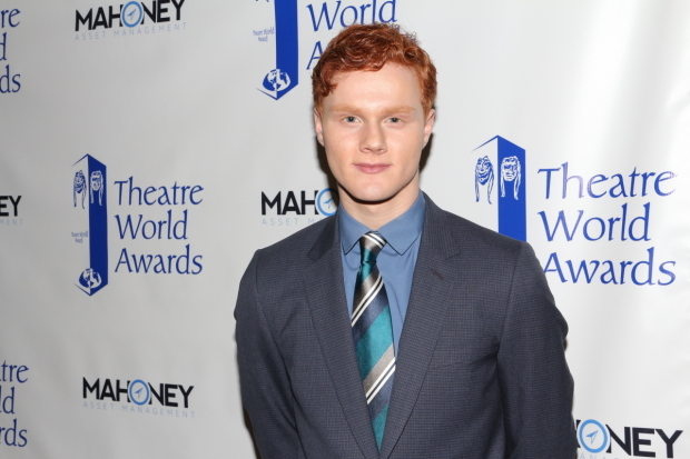 <p>Nicholas Barasch receives the eighth annual Dorothy Loudon Award for Excellence in the Theater.</p><br />(© David Gordon)