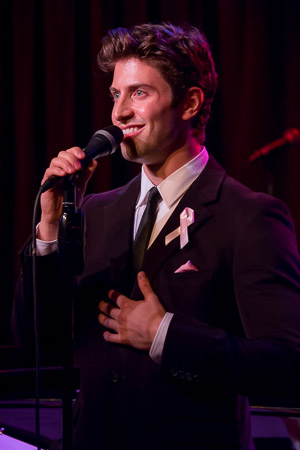 <p>Nick Adams sings &quot&#x3B;Luck Be a Lady.&quot&#x3B;</p><br />(©Seth Walters)