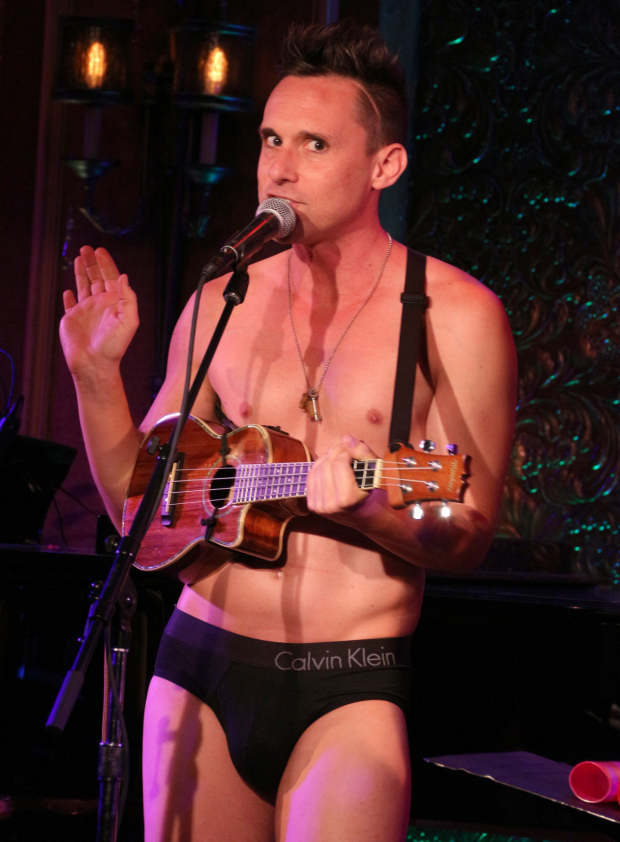 <p>Nick Cearley takes the stage to show off the Skivvies.</p><br />(© David Gordon)