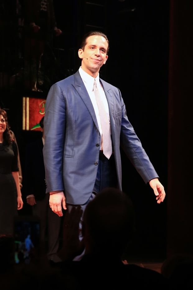 <p>Nick Cordero plays mob boss Sonny in the new musical.</p><br />(© Tricia Baron)