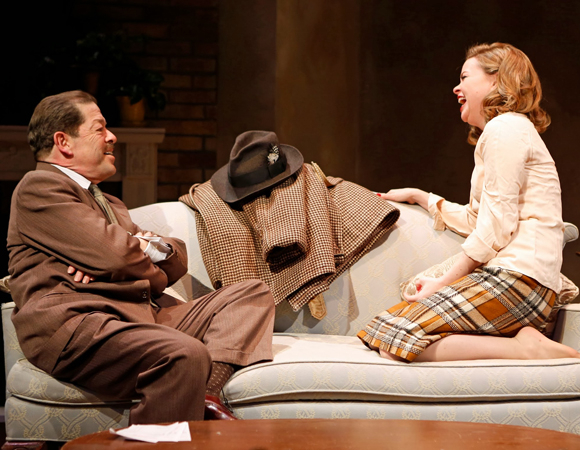 <p>Nicole Lowrance and Jonathan Hadary costar in Paddy Chayefsky&#39&#x3B;s <em>Middle of the Night</em>. </p><br />(© Carol Rosegg)