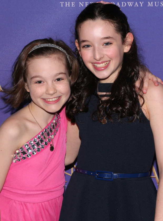 <p>Nicole Scimeca and Mckayla Twiggs celebrate after the show.</p><br />(© David Gordon)