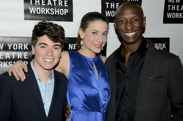 <p>Noah Galvin, Irene Sofia Lucio, and Phillip James Brannon take on multiple roles in the 57-scene play.</p><br />(© Nessie Nankivell)