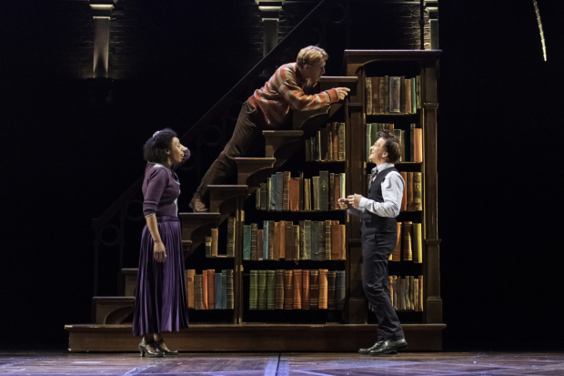 <p>Noma Dumezweni, Paul Thornley, and Jamie Parker share a scene as Hermione, Ron, and Harry.</p><br />(© Manuel Harlan)