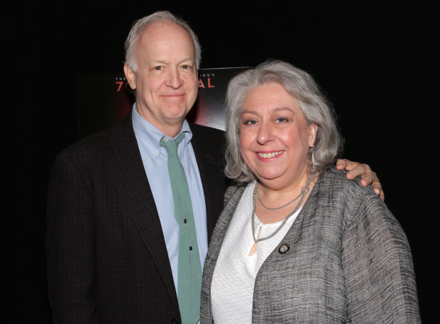 <p>Nominees Reed Birney and Jayne Houdyshell proudly represent <em>The Humans</em>.</p><br />(© David Gordon)