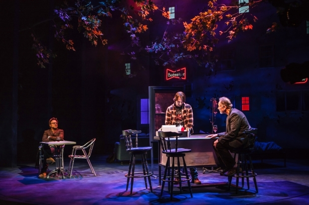 <p>Norbert Leo Butz, Alex Hurt, and Jon DeVries in a scene from <em>The Whirligig</em></p><br />(© Monique Carbon)