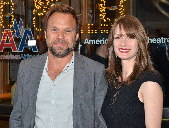 <p>Norbert Leo Butz and Michelle Federer are ready to cheer on team <em>Violet</em>. </p>